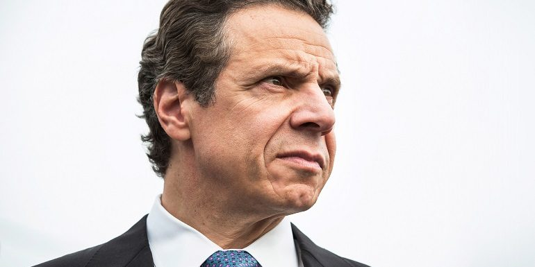 NEW YORK, NY - OCTOBER 29:  New York Governor Andrew Cuomo attends a press conference about New York state's program to buy back homes destroyed by Hurricane Sandy and allow mother nature to reclaim the land, two years after Superstorm Sandy damaged the area, on October 29, 2014 in the Oakwood Beach neighborhood of the Staten Island Borough of New York City. Huricane Sandy was recorded as the deadliest and most destructive hurricane of the 2012 Atlantic hurricane season. It caused over $68 billion in damages, and hundreds of people were killed along the path of the storm in seven countries. Today marks the two-year anniversary of its storm surge hitting New York City and the surrounding area which flooded streets, tunnels and subway lines and cut power in and around the city.  (Photo by Andrew Burton/Getty Images)